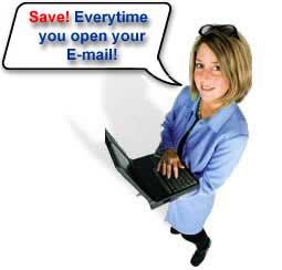 Save every time you open your email